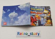 Nintendo Game Boy Advance GBA Digimon Battle Spirit Notice / Instruction Manual