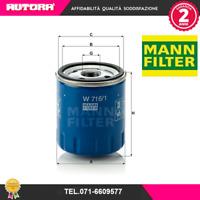 W7161 Filtro olio Citroen-Fiat-Peugeot (MARCA-MANN)