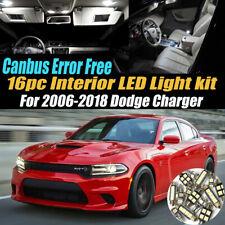 16Pc CANbus Error Free Interior LED White Light Kit for 2006-2018 Dodge Charger