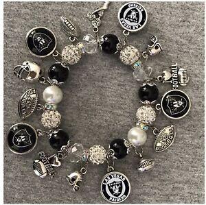 Las Vegas Raiders charm bracelet