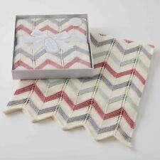 Jiggle & Giggle 100% Cotton Brick Zig-Zag Knit Baby Blanket. Cot or Pram blanked