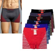 6pc lot Men Microfiber Boxer Brief Underwear Shorts Compression Knocker Seamless