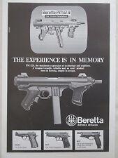 7/1985 PUB BERETTA PM 12S WEAPON AUTOMATIC RIFLE PISTOLET AUTOMATIQUE AD