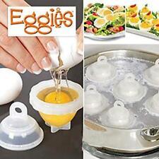 Home Kitchen Eggies Egg Cooker Hard Boiled Boil Eggs System White 7 in 1 FW