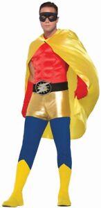 Yellow ADULT Unisex Superhero Cape One Size Costume Accessory NEW Mens Womens