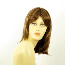 mid length wig for women brown copper wick light blond ref: EDITH 6bt27b PERUK