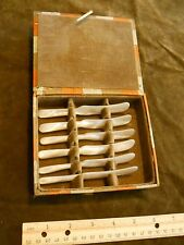 "Vintage 4-1/2"" Mother-of-Pearl Butter Knife Set of 6 in originial box- Made in H"