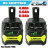 New 18V 6.0Ah For Ryobi One+ Plus P108 Lithium Battery RB18L50 P104 P780 RB18L40