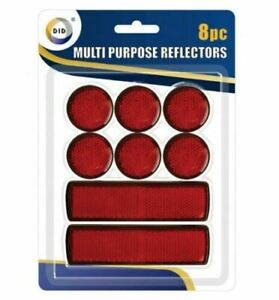 8 Mulity Purpose Red Light Reflectors Rear Trailer Reflector Disks Caravan Bike