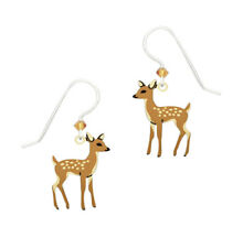 Sienna Sky Young Fawn Baby Deer Pierced Earrings ~Made in USA~