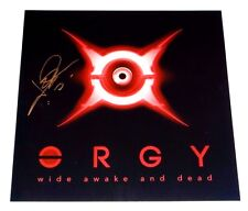 ORGY JAY GORDON SIGNED WIDE AWAKE AND DEAD 12X12 ALBUM COVER PHOTO!!!