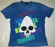 Amplified Vintage OFFICIAL THE RAMONES SKULL Strass Rock Star Vip T-Shirt G. xl