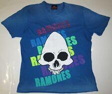 AMPLIFIED Vintage Official THE RAMONES Strass Skull Rock Star ViP T-Shirt g.XL
