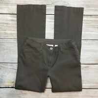Chicos Dress Pants Size 00 = 2 Womens Brown Taupe Stretch