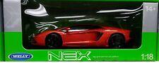 Lamborghini Aventador LP700 Die-cast Car 1:18 Welly 9 inches Orange