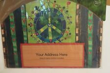 Yard Sign Magnet Peace Symbol, Children / People around the Earth / Globe, Green