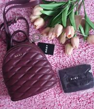DKNY Donna Karen Mulberry Purple Quilted Leather Bag