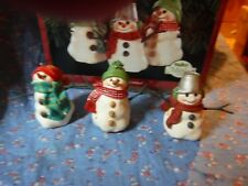 Hallmark Keepsake Ornament 1999 The Snowmen of Mitford Set of 3 Ornaments