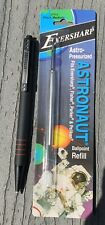 Eversharp Pressurized Black Astronaut Style Retractable Pen and Ballpoint Refill