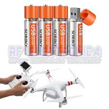4PCS SORBO 1.5V 1200mAh USB Rechargeable 1 Hour Quick Charging AA Li-po Battery