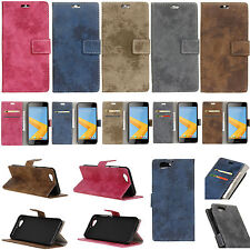 For Various Series Phone Retro style Wallet ID Card Leather Case Cover Skin KS