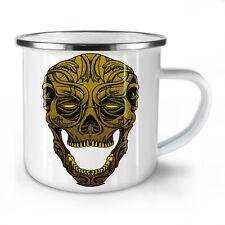 Golden muerto arte cráneo nuevo esmalte taza de té 10 Oz | wellcoda