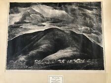 Stanley Huber Wood, Threatening Sky, Fine Art, Collectible Antique Lithograph