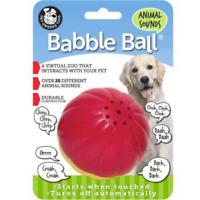 Pet Qwerks Animal Sound Babble Ball Interactive Dog Toys - Flashing Motion Ball,