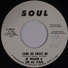 JR WALKER & THE ALL STARS: Come See About Me SOUL Motown DJ PROMO 45 NM- Super