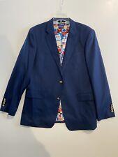 New Columbia PFG Mens Size 44 Long Blazer/Suit Jacket Navy Blue