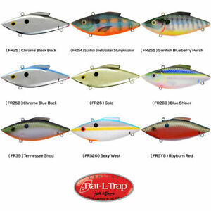 Rat-L-Trap Lipless Crankbait 1/3oz FLOATING Any 9 Color Bill Lewis FR Lures