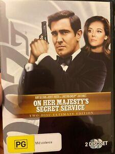 On Her Majesty's Secret Service region 4 DVD (2 discs) 1969 James Bond spy movie