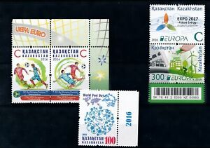 [310015] Kazakstan 2016 good lot very fine MNH stamps