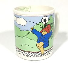 Paddington Bear Soccer Mug Vintage Enesco Ceramic Soccer Coffee Cup Mug