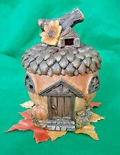 Fairy Garden Miniature Halloween Acorn House Resin