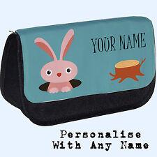 Woodland Personalizado Estuche cilíndrico/Bolsa De Maquillaje De Conejo. Regalo Personalizado