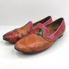 John Fluevog 9 Floral Flats Shoes EUC Free shipping