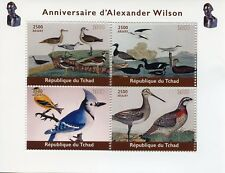 Chad 2018 MNH Alexander Wilson Ornithologist 4v M/S Natural History Birds Stamps