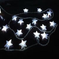 2.5m 3D 20 LED WHITE LED DIAMOND STAR CHRISTMAS TREE LIGHTS PARTY FAIRY STRING