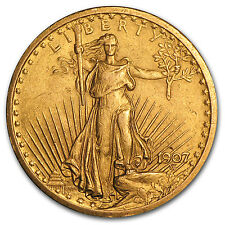 1907 $20 Saint-Gaudens Gold Double Eagle (Cleaned) - SKU #62222