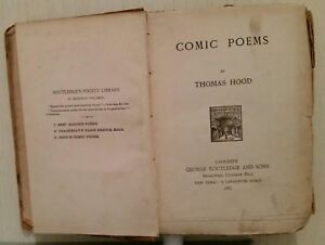 ANTIQUE/VINTAGE POETRY BOOK.1885.COMIC POEMS.384 PAGES.THOMAS HOOD.LONDON.PROP.