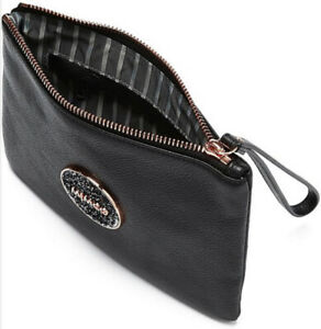 MIMCO Medium Pouch BLISS Black Wallet Purse Clutch Rose Gold BNWT RRP$99.95 New