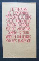 Affiche originale mai 68 THÉÂTRE DE L'ENSEMBLE Rouge poster may 1968 291