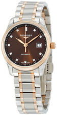 L2.257.5.67.7   NEW LONGINES MASTER COLLECTION ROSE GOLD & STEEL DIAMOND WATCH