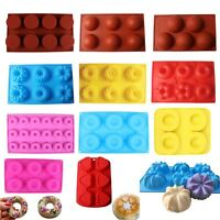 Silicone Donut Muffin Pan Mold Chocolate Cake Candy Cookie Cupcake Baking Mould