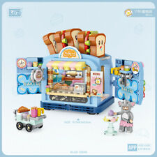 Bausteine Gebäude LOZ1746 Street View-Serie Bäckerei Geschäft Spielzeug 567PCS