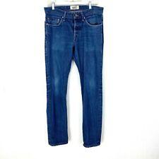 Naked & Famous men's jeans Weird Guy vintage Indogo Selvedge denim Sz 33 x 32