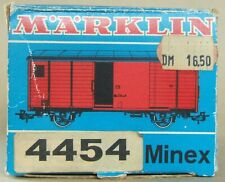 Märklin Minex Leerkarton blauer Güterwagen 4454 von 1970, Spur 0e