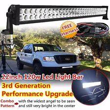 22inch 120w Led Work Light Bar Spot Flood Combo Offroad Driving Polaris 4WD SUV