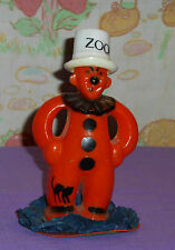 vintage Halloween ZOOK THE CLOWN CANDY CONTAINER (with homemade base)
